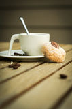 Espresso on summer terrace. Espresso coffee on summer terrace Royalty Free Stock Photos
