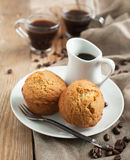 Espresso syrup cakes Royalty Free Stock Photo