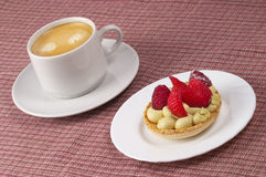 Espresso and tart Stock Images