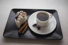 Espresso and tiramisu Royalty Free Stock Images