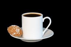 Espresso und Biskuit für eins lizenzfreies stockbild