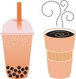 Espresso und Boba Tee Stockbild