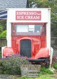 Espresso und Eiscreme Stockfotografie