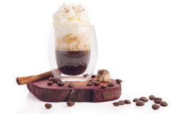 Espresso with whipping cream Stock Image