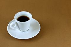 Espresso in white cup Royalty Free Stock Photography