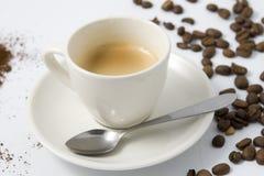 Espresso With Coffee Stock Image