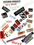 Espresso Word Collage Stock Photo