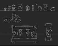 Espressobar stock illustratie