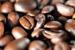 Espressobonen Sluit omhoog geschoten Macro Stock Afbeelding