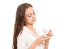 Espressobrunette Stock Foto