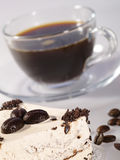 Espressokaffee im Glascup Lizenzfreie Stockbilder