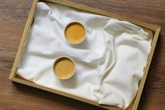Espressokaffee-smileygesicht Lizenzfreie Stockfotos