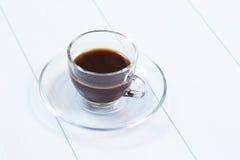 Espressokop van zwarte koffie Stock Afbeelding
