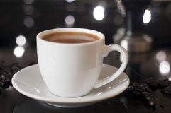 Espressokopp arkivfoto