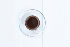 Espressokopp av svart kaffe Arkivbild