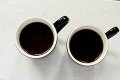 Espressokoppen van overheadkosten Royalty-vrije Stock Foto