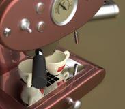 espressomaskin stock illustrationer