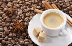 Espresson kuper Royaltyfri Bild