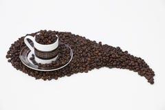 espresson räckte till vänster Royaltyfri Foto