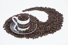 espresson räckte vänster swirl Royaltyfri Bild
