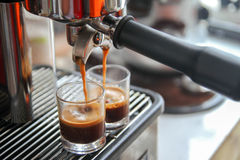 Espressoschot royalty-vrije stock foto