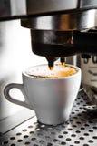Espressovorbereitung lizenzfreie stockbilder