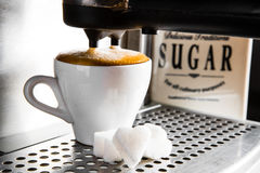 Espressovorbereitung, lizenzfreies stockbild