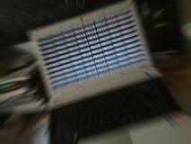 Esprima il ` del fuoco del ` messo a fuoco sul centro di un computer Fotografia Stock Libera da Diritti