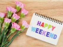 Esprima il fiore felice 1 di fine settimana e del garofano di periodo Immagini Stock