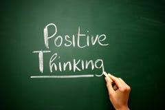Esprima il pensiero del positivo attinto una lavagna, concetto di affari Immagini Stock Libere da Diritti