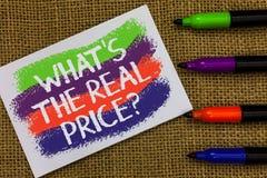 Esprima il testo di scrittura che s è la domanda dei prezzi reali Il concetto di affari per dà il valore reale delle onde variopi fotografia stock