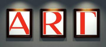 Esprima l'arte nei telai delle immagini sulla galleria della parete Fotografie Stock