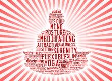 Esprima la nuvola composta sotto forma di un uomo che fa la meditazione di yoga illustrazione vettoriale