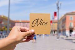 Esprima Nizza nel quadrato in Nizza, Francia di Massena Immagini Stock Libere da Diritti