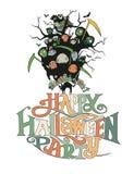 Esprima un partito felice di Halloween Immagine Stock Libera da Diritti