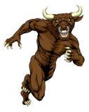 Esprintar la mascota del toro Fotografía de archivo libre de regalías