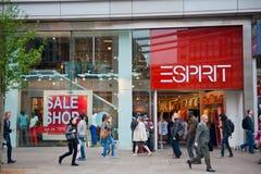 Esprit商店在伦敦,英国 免版税图库摄影