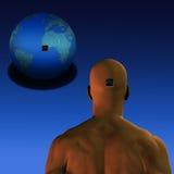 Esprit au monde Image libre de droits