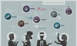 Esprit d'équipe de solutions de concept Images libres de droits