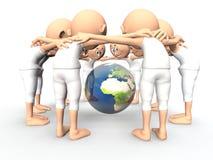 Esprit d'équipe, discussion au sujet de la terre illustration libre de droits