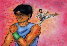 Esprit de combat (la puissance des arts martiaux, 2014) image libre de droits