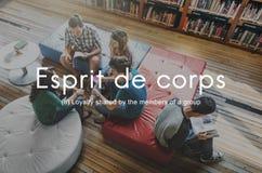 Esprit De Corps Group Loyalty People Graphic Concept Stock Image