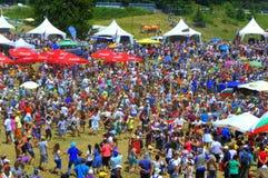 Esprit de fête au festival de Rozhen, Bulgarie Images libres de droits
