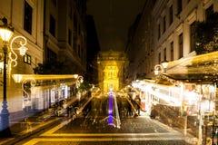 Esprit de Noël à Budapest Photos stock