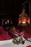 Esprit de Noël? avec Santa et Noel Image stock