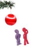 Esprit de recherche de Noël Image libre de droits