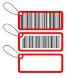 Esprit de trois étiquettes de code à barres Photo libre de droits