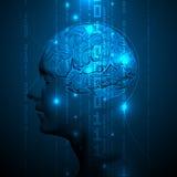 Esprit humain actif avec les éléments binaires illustration de vecteur