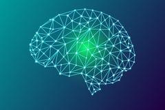 esprit humain 3d numérique illustration de vecteur
