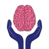 Esprit humain de vecteur de signe de santé mentale comme concept Photos stock